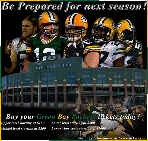 School Photoshop Project - Green Bay Packers Flyer